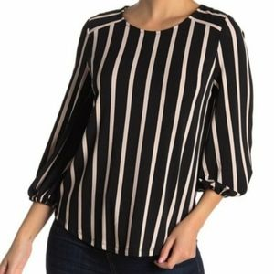Adrianna Papell black/ white stripe.pullover top